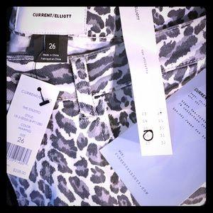 BNWT Current/Elliott Animal Print Jeans